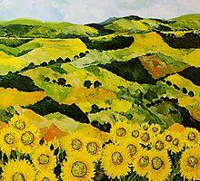 Sunflowers and Sunshine by Allan P Friedlander