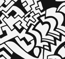 Black and white doodle graffiti Sticker