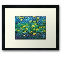 Starry Starry Water Lilies Framed Print
