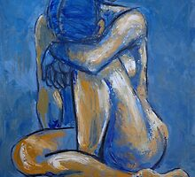 Blue Heart - Female Nude by CarmenT
