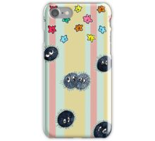 Soot Sprites with Star Candy and Stripes  iPhone Case/Skin