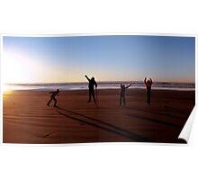 Beach Jump Poster