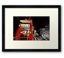The long night out  Framed Print