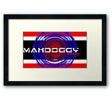 Maxdoggy Gaming - White Text v2! Framed Print