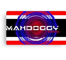 Maxdoggy Gaming - White Text v2! Canvas Print
