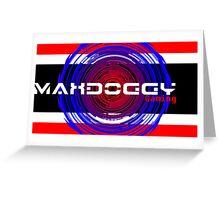 Maxdoggy Gaming - White Text v2! Greeting Card