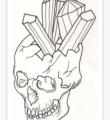 Skull crystal no.1 Sticker