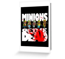 zombie minions of the dead Greeting Card