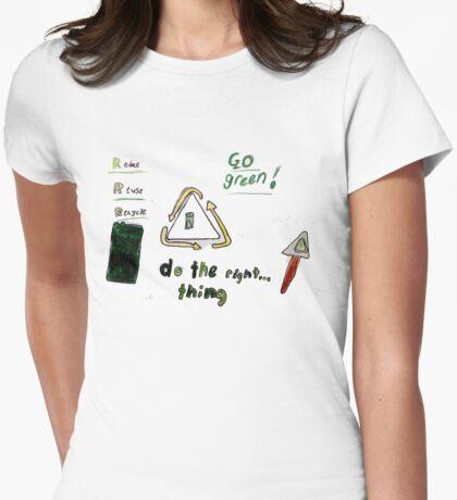 Mia - Recycling T Womens Fitted T-Shirt
