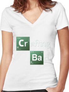 Crafting Bad Women's Fitted V-Neck T-Shirt