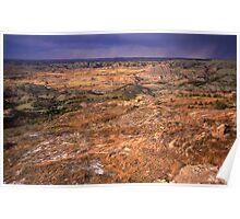 Painted Canyon, Theodore Roosevelt National Park, North Dakota Poster