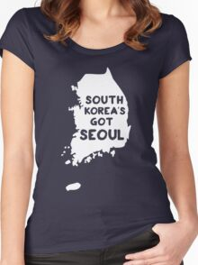 South Korea's Got Seoul Women's Fitted Scoop T-Shirt