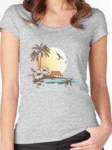 Thailand Beach Scene Women's Fitted Scoop T-Shirt