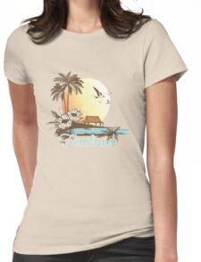 Thailand Beach Scene Womens Fitted T-Shirt