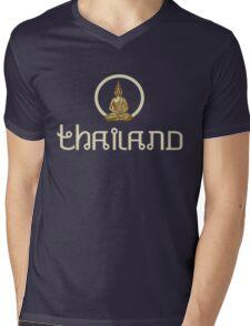Thailand Buddhist Mens V-Neck T-Shirt