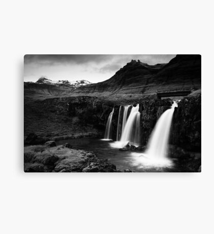 Iceland in B&W Canvas Print
