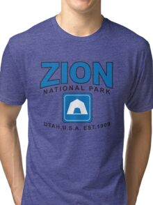 Zion National Park Camping Tri-blend T-Shirt