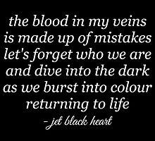 Jet Black Heart Lyrics by greenlightcth