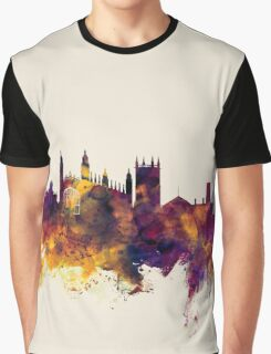 Cambridge England Skyline Graphic T-Shirt