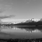 Dock Point ~ Panoramic B&W by Rick & Deb Larson