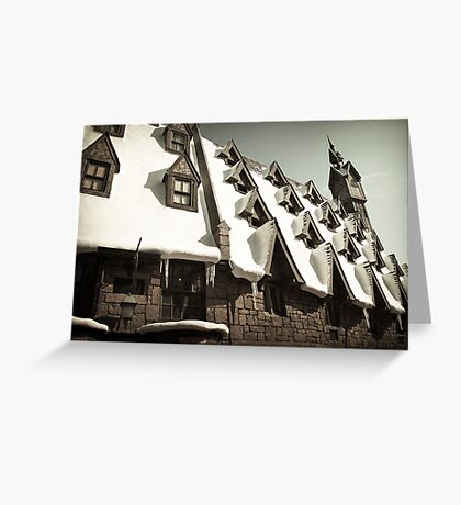 Hogsmeade Village: The Rooftops Greeting Card