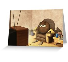 The Couch Potato Greeting Card
