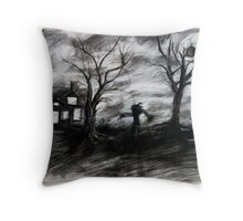 Father Halloween  Throw Pillow