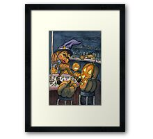 Pumpkin Stripper Framed Print
