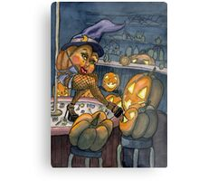 Pumpkin Stripper Metal Print