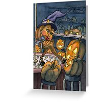 Pumpkin Stripper Greeting Card