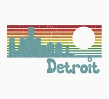 80's Retro Detroit (Distressed Design) Kids Clothes