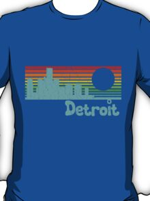80's Retro Detroit (Distressed Design) T-Shirt