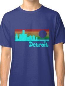 80's Retro Detroit (Distressed Design) Classic T-Shirt