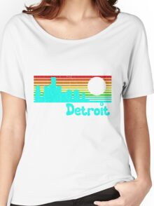 80's Retro Detroit (Distressed Design) Women's Relaxed Fit T-Shirt