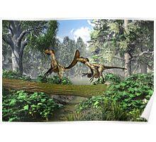 """Deinonychus """"terrible claw"""" Poster"""
