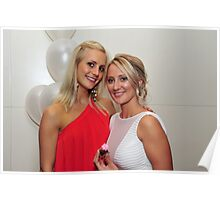 Two Beautiful Girls. Brisbane, Queensland, Australia.  Poster
