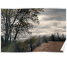 Path to Autumn Beach Poster