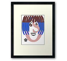Typortraiture Ringo Starr Framed Print