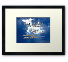 The Lord's Prayer Framed Print