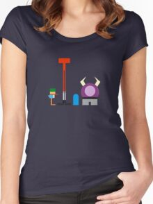 Minimalist Foster's Home for Imaginary Friends Women's Fitted Scoop T-Shirt
