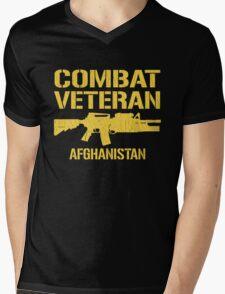 Combat Veteran Afghanistan (Distressed) Mens V-Neck T-Shirt