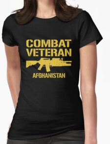 Combat Veteran Afghanistan (Distressed) Womens Fitted T-Shirt