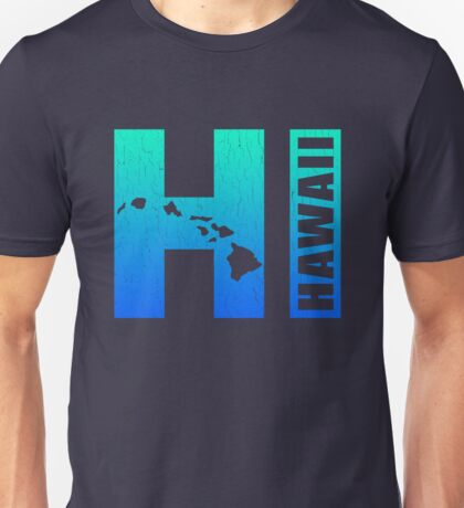 Big Blue Hawaii (Distressed Design) Unisex T-Shirt