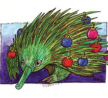 KMAY xmas echidna by Katherine May
