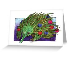 KMAY xmas echidna Greeting Card