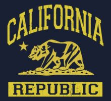 California Bear Republic (Vintage Distressed) Kids Tee