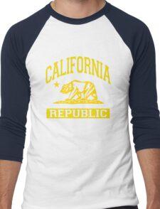 California Bear Republic (Vintage Distressed) Men's Baseball ¾ T-Shirt