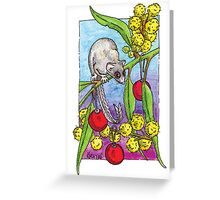kmay xmas feather glider Greeting Card