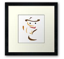 Minimalist Billy the Kitten Framed Print