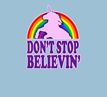 Don't Stop Believin' in Unicorns (Vintage Distressed) Womens Fitted T-Shirt
